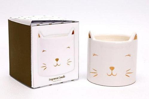 Candle In Ceramic Cat