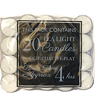 Pack of 20 Tealights