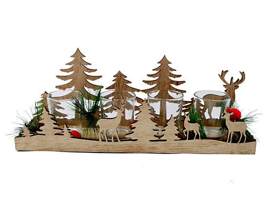 Christmas Candle Holder Set