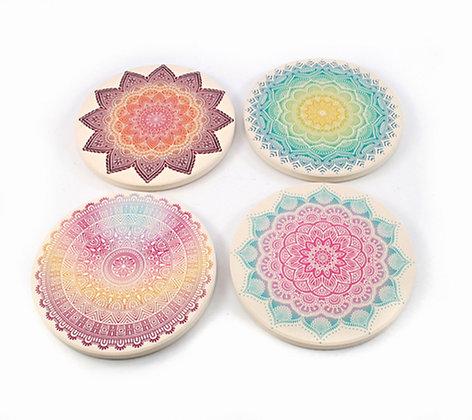 Mandala Ceramic Coaster