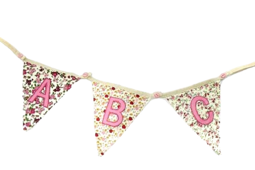 Floral Bunting Initials