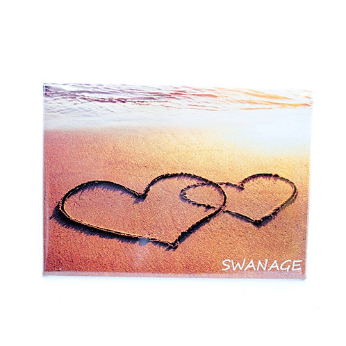 Hearts in Sand Magnet