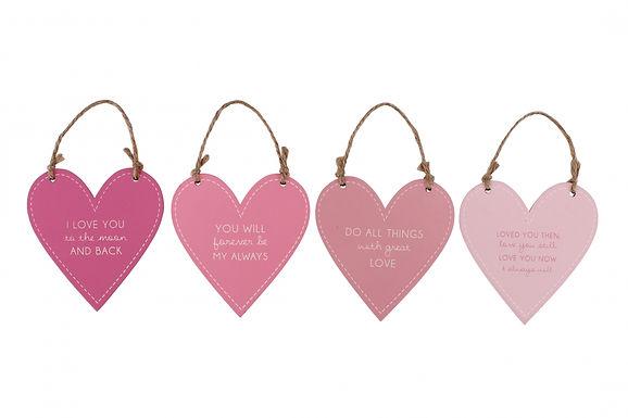 Pink Heart Hanger