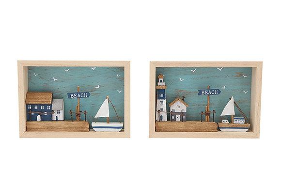 Harbour Scene 3d Picture