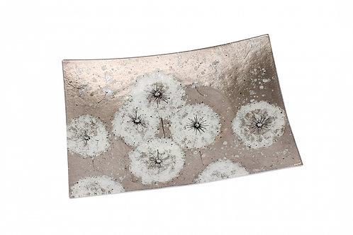 Dandelion Glass Plate