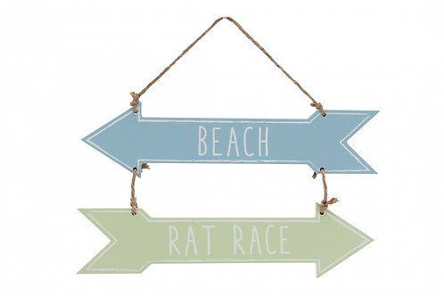 Beach Rat Race Sign