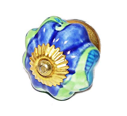 Flower Shape Ceramic Drawer Pull