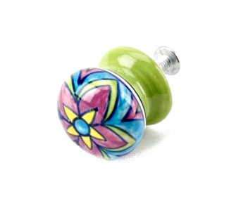 Small Ceramic Flower Drawer Pull