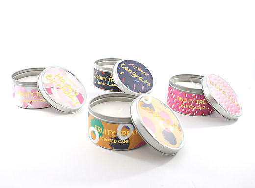 Celebration Candle In Tin