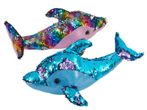 Sequin Dolphin Soft Toy