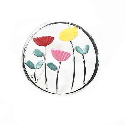 Flower Circle Brooch