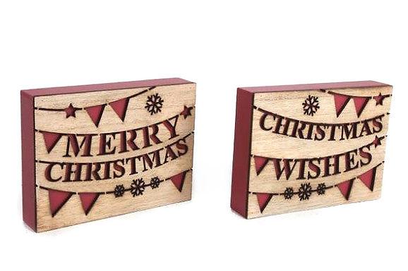 Christmas Laser Cut Plaque