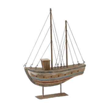 Rustic Boat on Stand