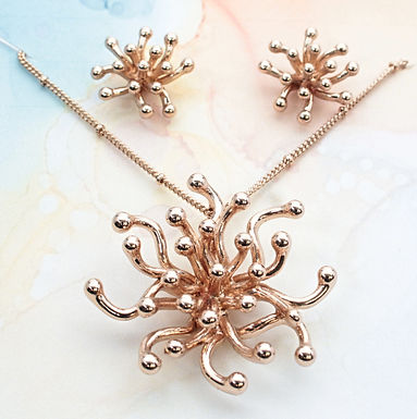 Anemone Necklace And Earrings Set