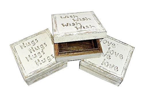 Carved Whitewash Box