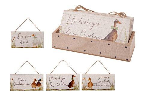 Wooden Duck Plaque