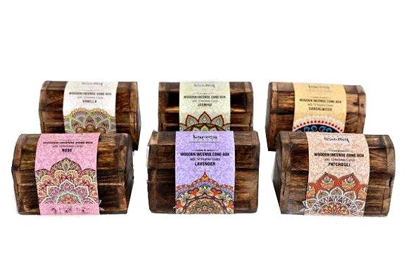 Incense Cones in Wooden Box