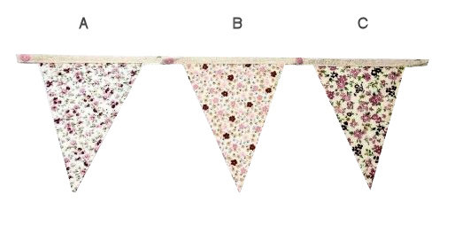 Floral Bunting Blank Spacer Flag
