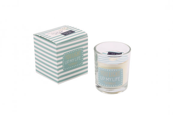 Motto Candle in Glass Jar