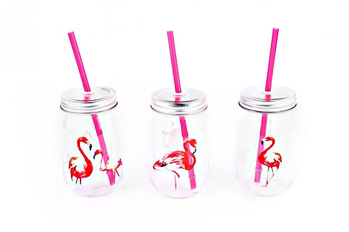 Flamingo Drinking Jar