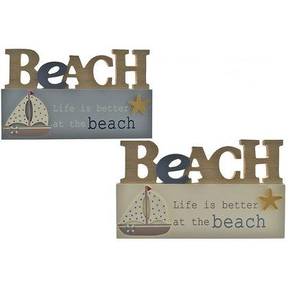 Beach Motto Sign