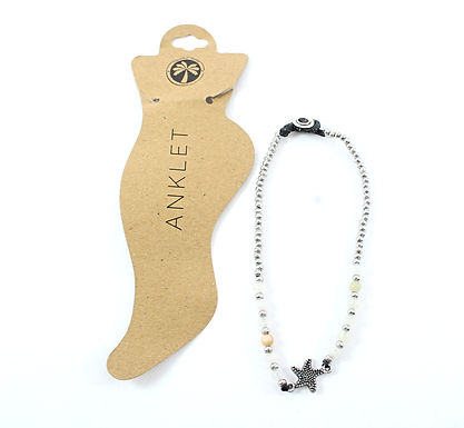 Beaded Starfish Anklet