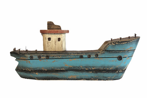Wooden Standing Boat Ornament