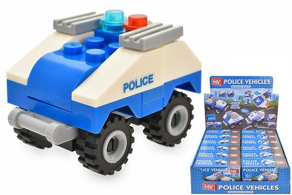 Police Vehicle Brick Set