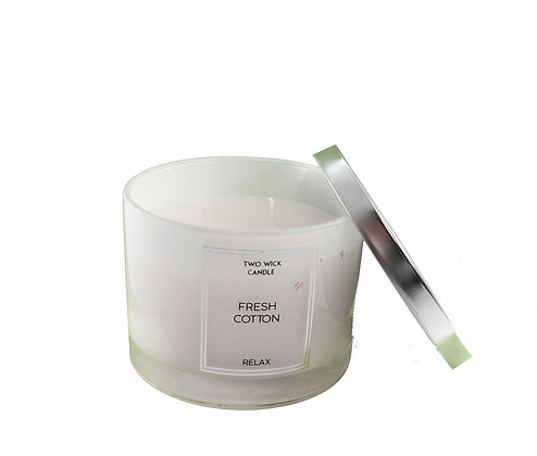 Candle 2 Wick Fresh Cotton
