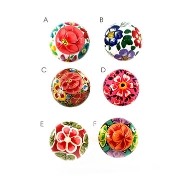 Bright Floral Drawer Pull