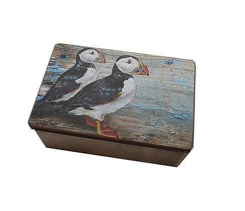 Wooden Puffin Box