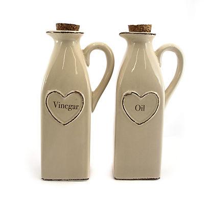 Ceramic Oil Or Vinegar Bottle