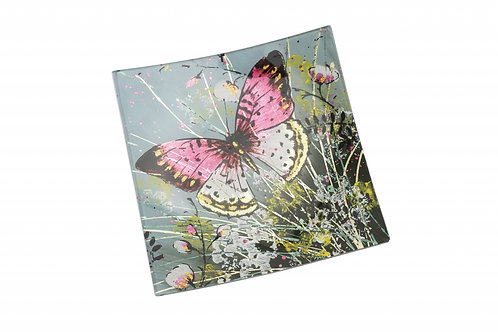 Butterfly Glass Plate