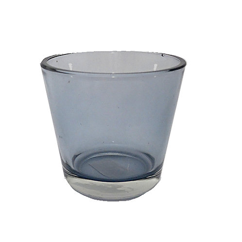 Candle Holder Glass Cup Black Tapered