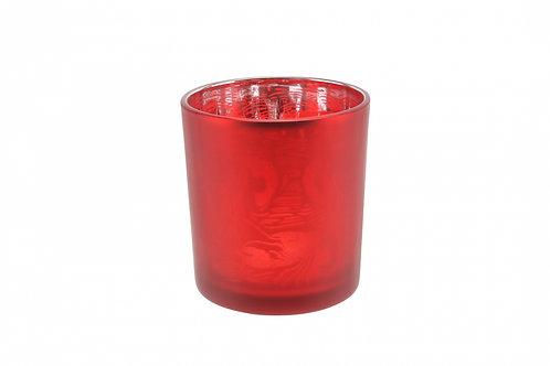 Candle Holder Glass Pot Lobster Red Large