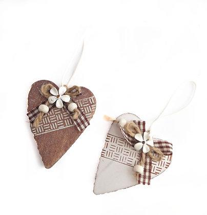Heart Hanger Gingham Ribbon