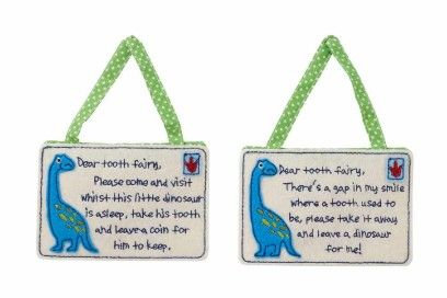 Dino Tooth Fairy Bag