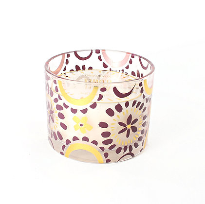 Candle in Painted Glass Jar