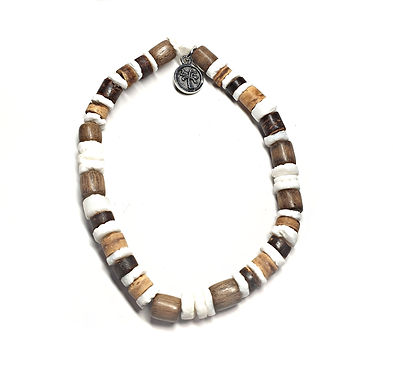 Wood and Shell Beads Bracelet