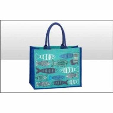 Canvas Fish Tote Bag