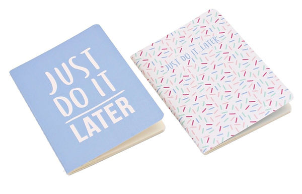 """Pack of 2 """"Just do It Later"""" Notebooks"""