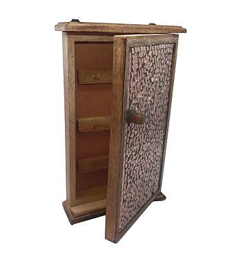 Mosaic Copper Wood Key Box