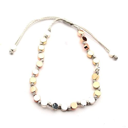 Adjustable Discs Bracelet