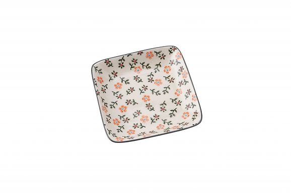 Floral Square Plate