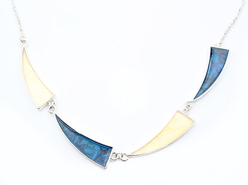 Enamel Triangles Necklace
