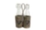 2 Bottles in Wicker Holder
