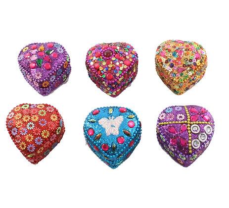 Mini Beaded Heart Tin