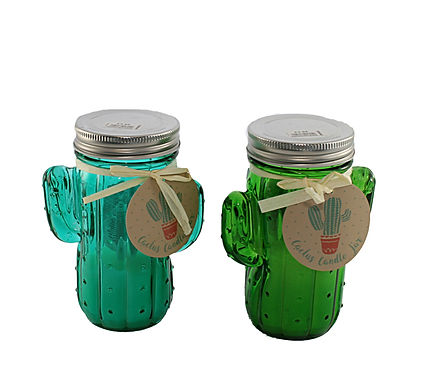 Candle In Cactus Jar