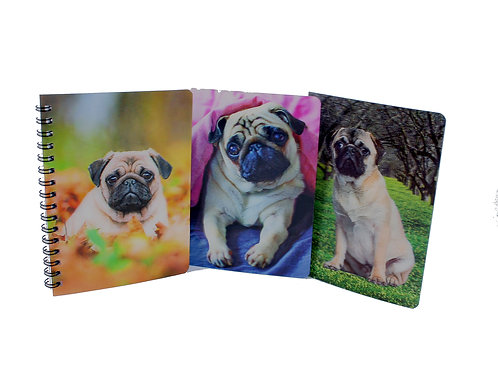 Hologram Pug Notebook