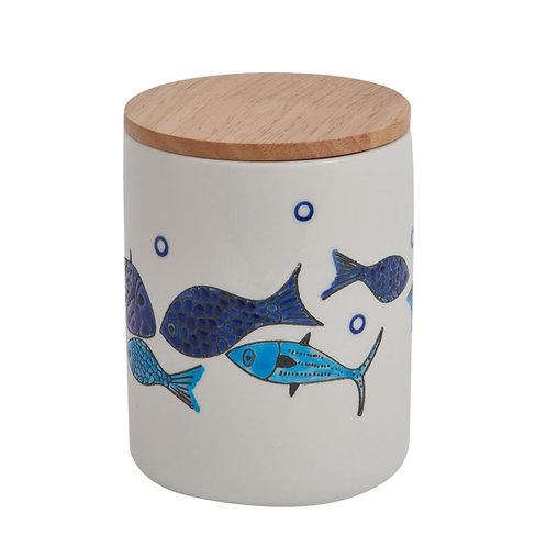 Ceramic Fish Design Storage Jar
